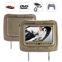 9 Inch Headrest DVD Player + Gaming System + FM Transmitter (Tan Pair)