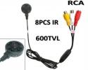 Проводная CCTV мини камера, 600 tvl, 940nm IR, Wide-angle, 18x18x8 мм, 5-12V, BNC