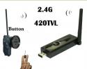 Комплект миниатюной беспроводной камеры под пуговицу с USB приемником для подключения к компьютеру