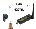 """Комплект миниатюрной беспроводной камеры """"рыбий глаз 170 град"""" с USB приемником для подключения к компьютеру"""
