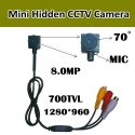 8.0M �������� ���� CCTV ������, 1280*960,700TVL PAL/NTSC,9-12V,microphone,����� 65 degrees 6 mm