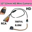 Мини CCTV камера, 600TVL, размер 12*12mm,0.5LUX, 5-12V