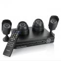 Комплект видеонаблюдения из четырех камер и DVR