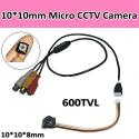 Мини CCTV камера, 600TVL, размер 10*10*8mm,0.5LUX, 5-12V